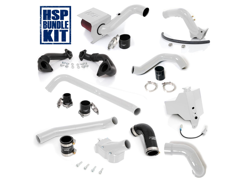 LLY GLOSS BLACK MADE IN USA HSP DIESEL 4 COLD AIR INTAKE KIT FOR 2004.5-2005 CHEVROLET//GMC DURAMAX 6.6L
