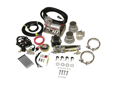 "BD1028130 BD-POWER 1028130 3"" REMOTE MOUNT EXHAUST BRAKE WITH AIR COMPRESSOR UNIVERSAL - FOR 3"" EXHAUST SYSTEMSMedium"