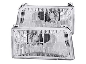 AZ111247 ANZO 111247 CHROME HEAD LIGHT 1994-1996 FORD F-250/350Small