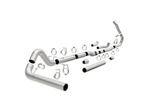"MAG18945 MAGNAFLOW 18945 4"" TURBO-BACK ALUMINIZED CUSTOM BUILDER PIPE KIT 1999-2007 FORD 7.3L/6.0L POWERSTROKE (ALL CREW & EXT. CABS)Small"