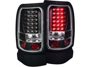AZ311073 ANZO BLACK LED TAILLIGHTS 311073 1994-2002 DODGE RAMSmall