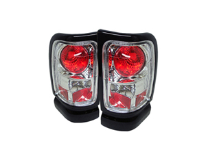 SA5002679 SPYDER 5002679 CHROME EURO STYLE TAIL LIGHTS 1994-2002 DODGE RAM 2500/3500Small