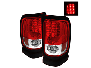 SA5002716 SPYDER 5002716 RED/CLEAR LED TAIL LIGHTS 1994-2002 DODGE RAM 2500/3500Small
