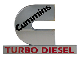 55077329AB OEM Cummins Turbo Diesel Emblem, 2003-2005 Dodge Ram Cummins Thumbnail