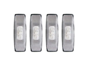 AZ861090 ANZO 861090 CLEAR LED DUALLY FENDER LIGHTS 1994-2002 DODGE RAM DUALLYSmall