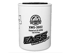 XWS-3002 FASS FS-1001 WATER SEPARATOR FOR USE WITH FASS HD & TITANIUM SERIES FUEL AIR SEPARATION SYSTEMS*Small