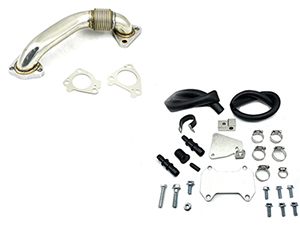ZZ Diesel EGR Cooler Upgrade Kit with Up Pipe, 2015-2016 GM 6.6L Duramax LML Thumbnail