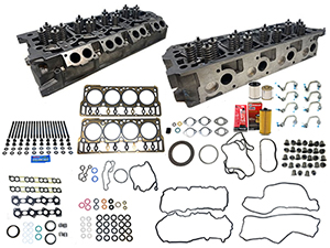 Remanufactured Cylinder Heads with Gasket Install Kit, ARP Studs 2008-2010 Ford 6.4L Powerstroke Thumbnail