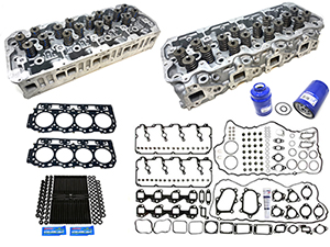 Remanufactured Cylinder Heads with Gasket Install Kit, ARP Studs, 2004.5-2005 GM 6.6L Duramax LLY Thumbnail