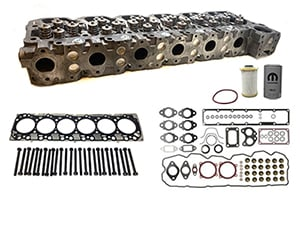 Remanufactured Cylinder Heads with Gasket Install Kit, OEM Head Bolts, 2007.5-2019 Dodge Ram 6.7L Cummins Thumbnail