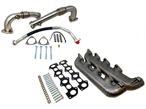 ZZ Diesel High Flow Up Pipe and Exhaust Manifold Kit, 2008-2010 Ford 6.4L Powerstroke Thumbnail