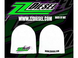 zz-sock-hat-white ZZ Diesel Sock Hat - WhiteSmall